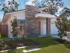 photo of a concrete house exterior from real australian home house facade photo 655027 - Real Home Design