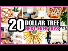 20 HIGH END Dollar Tree DIY Room Decor Ideas to try in 2021! - YouTube Dollar Tree Decor, Dollar Tree Store, Dollar Tree Crafts, Dollar Stores, Diy Arts And Crafts, Diy Craft Projects, Home Crafts, Diy Crafts, Craft Ideas
