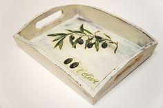 MENTŐÖTLET - kreáció, újrahasznosítás: Antikolt tálca