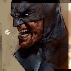 Ben Oliver - And Darth Vader Dc Comics, Batman Comics, Comic Book Artists, Comic Artist, Comic Books Art, Batman Kunst, Batman Art, Ben Oliver, Batman Painting