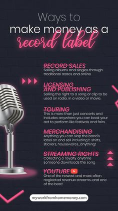 Learn how to start a record label with no budget and make money in the music industry Love music but can't play a note to save your life? Singing Techniques, Sell Music, Tour Manager, Music Writing, Job Work, Music Promotion, Music Labels, Music Theory, The More You Know