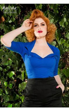 Doris Top in Royal Blue