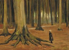 Vincent van Gogh (1853-1890) A Girl in a Wood