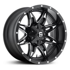 Fuel Lethal D567, matte black milled rims.