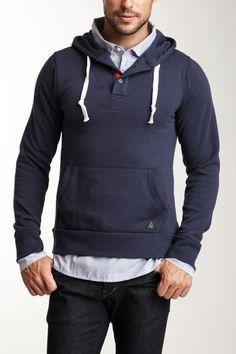 Premium Lounge Fleece Hoodie with Shirt navy