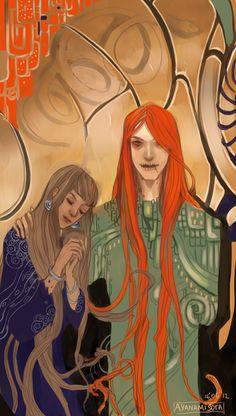 Loki and Sigyn by AyanamiSora.deviantart.com on @deviantART