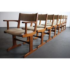 Image of Danish Modern Teak Dining Chair, Nakashima Leg - 8