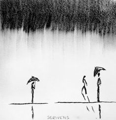 Silhouettes in charcoal rain - Katherine Scrivens