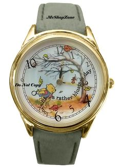 Brand New; Disney Winnie The Pooh and The Blustery Day Series VI Watch. Winnie The Pooh is in the Winter La Winnie The Pooh Nursery, Winnie The Pooh Quotes, Winnie The Pooh Friends, Disney Winnie The Pooh, Disney Wedding Rings, Disney Rings, Disney Jewelry, Cute Disney, Baby Disney
