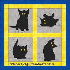 Free quilt pattern for kittens by Maartje Quilts in Amsterdam