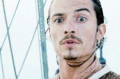 (Will Turner) best facial expression ever..... calm down...... Legolas