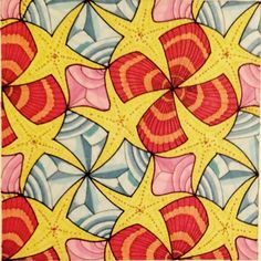 #Escher #Tessellation #Tiling #MC_Escher #Geometry #Symmetry My interpretation of Mc Escher symmetry nr 42