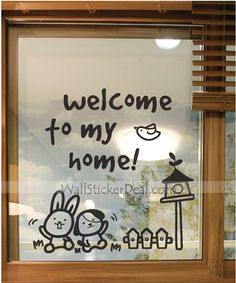 Welcome To My Home Wall Sticker