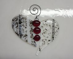 Fused Glass Heart Suncatcher Stained Glass by GlassicArtistry, $15.00