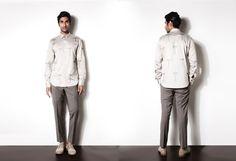 A unique color combination not so easily spotted in Indian Men's Fashion by designer Josh Goraya #mensfashion2015 #menswear #mennesslife #mennesstyle #tredning #indianmalemodel #joshgoraya #inidnafashion #indianmensdesigner