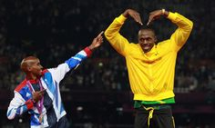 Usain Bolt Mo Farah London 2012 Olympics