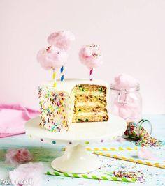 Confettikakku | Kotivinkki Text and pic: Emma Iivanainen #cake #cakes Birthday Cake, Birthday Parties, Cute Cakes, Mind Blown, Cake Recipes, Birthdays, Sweets, Desserts, Party Stuff