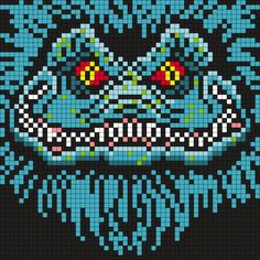 Critters Poster (in Grays) X 55 Square Grid Pattern) from:Man in the Book's Bead Patterns Pony Bead Patterns, Kandi Patterns, Peyote Stitch Patterns, Hama Beads Patterns, Beading Patterns, Beaded Cross Stitch, Cross Stitch Embroidery, Perler Bead Art, Perler Beads