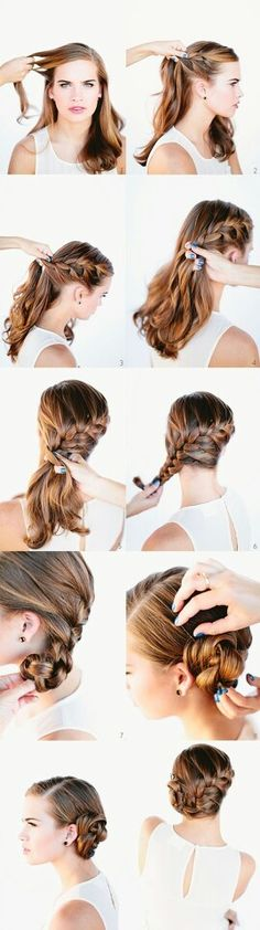 Cute and easy french braid