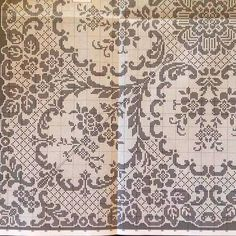 Filet Crochet Charts, Crochet Cross, Crochet Diagram, Crochet Shawl, Crochet Tablecloth, Crochet Doilies, Crochet Lace, Cross Stitch Embroidery, Cross Stitch Patterns