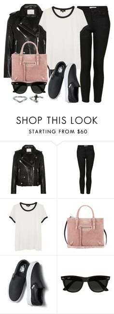 """""""Style #11658"""" by vany-alvarado ❤ liked on Polyvore featuring IRO, Topshop, A.P.C., Balenciaga, Vans, Ray-Ban and NLY Accessories"""