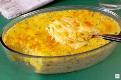 Lasanha de milho aos queijos