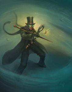 steampunk private investigator by DevBurmak.deviantart.com