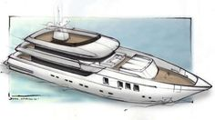 Otam 35SD superyacht sketch bow