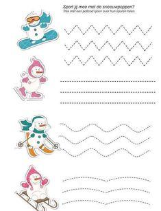 3-4-5 Yaş Çocuklar İçin Sevimli Çizgi Çalışmaları - Okul Öncesi Etkinlik Faliyetleri - Madamteacher.com Kids Rugs, Education, Sport, Crafts, Winter Time, Kid Exercise, Graphic Design, Kindergarten, Deporte
