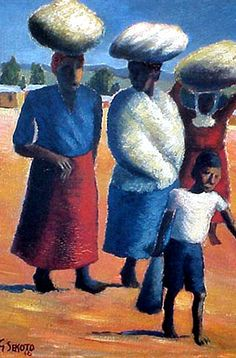 Images of the life and times of South Africa's exiled artist Gerard Sekoto, who is widely regarded a pioneer of South Africa's contemporary black art and social realism Black Artists, Top Artists, Gerard Sekoto, South Africa Art, Famous Artwork, South African Artists, Art Database, Classical Art, Portraits