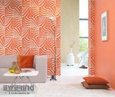 Zebra-Muster in knallig Orange - Pop Skin von Rasch