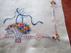 Vintage Table Runner Hand Embroidered