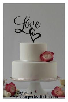 First Name Topper Custom Cake Topper Personalized Topper Wedding Cake Topper Modern Name Cake Topper Word Cake Topper Golden Topper Pinterest