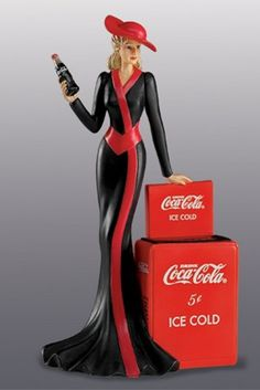 """Coca-Cola - """"Coke Beauties of the 1940's"""" - Timeless Tradition Lady Figurine"""