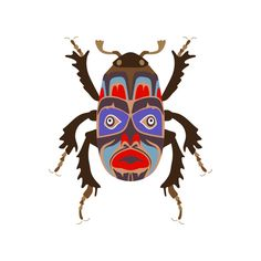 Bugs With Mask on Illustration Served