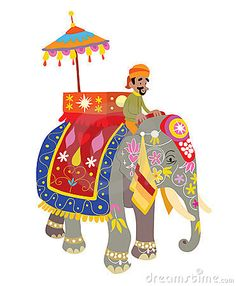 Illustration about Illustration of a decorated elephant at an Indian festival. Illustration of isolated, parade, colorful - 24116441 Indian Elephant Art, Elephant Love, Indian Art, Drawing For Kids, Art For Kids, Collages, Funny Cartoons For Kids, Indian Wedding Cards, Madhubani Painting