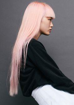 Fernanda Hin Lin Ly - Page 2 - the Fashion Spot Pink Hair, Blonde Hair, Blonde Pink, Blonde Bangs, Black And White Outfit, Cute Bangs, Coloured Hair, Rainbow Hair, Grunge Hair