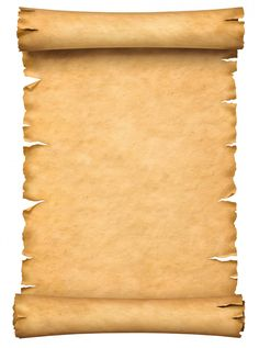 Old Paper Manuscript Or Papyrus Scroll Vertically Oriented Isolated On White Background. Paper Background Design, Old Paper Background, Flower Background Wallpaper, Text Background, Background Vintage, Flower Backgrounds, Scroll Tattoos, Free To Use Images, Bullet Journal Writing