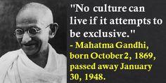 Mahatma Gandhi, born October 2, 1869, passed away January 30, 1948. #MahatmaGandhi #OctoberBirthdays #Quotes