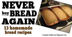 I've rounded up some of my favorite bread recipes, plus some from my friends, to give you enough options that you should never have to buy bread again. The first section has a number of yeast bread recipes using wheat flour, the second section has bread recipes for special diets including gluten free breads, a …