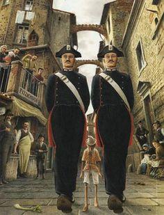 Roberto Innocenti, illustration for Pinocchio Pinocchio, Mockingbird Tattoo, Carlo Goldoni, Popeye Olive Oyl, Story Tale, John Bauer, Fantasy Paintings, Conte, Vintage Books