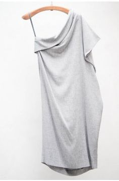 Grey Shoulder Dress