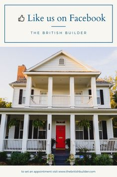 The British Builder New Homes, Texas Homes, Southern Homes, Gable House, Southern Living House Plans, Home Improvement Contractors, Cabins And Cottages, Second Story, Home Additions