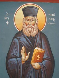 Papa Nicholas Planas the saintly priest of Athens. Priest, Art Pieces, Baseball Cards, Athens, Movie Posters, Saints, Fresco, Artworks, Film Poster