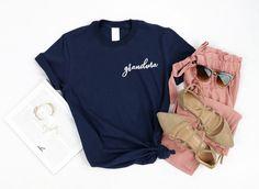 Grandma - Pregnancy Announcment Shirt - 10 Color Options #giftsforgrandma #pregnancyannoucementideasforgrandma #grandmafashion #grandmashirt #pregnancyshirt