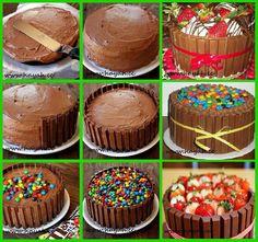 Kit Kat Kuchen - Sweets For My Sweet - kuchen kindergeburtstag Torta Candy, Candy Cakes, Cupcake Cakes, Kid Cupcakes, Just Desserts, Delicious Desserts, Yummy Food, Bolo Kit Kat Receita, Kitkat Torte