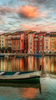 Portofino-Italy  *fyi this is not portofino, italy it's the portofino bay hotel in orlando, florida.
