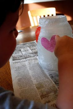 Homemade Serenity: Why Don't You Make Valentines Day Votives?