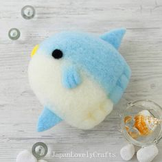 Kawaii Sunfish Cleaner  Japanese Needle by JapanLovelyCrafts