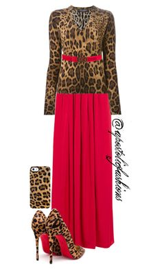 """Apostolic Fashions #849"" by apostolicfashions ❤ liked on Polyvore featuring Needle & Thread, Christian Louboutin, Uncommon, Dolce&Gabbana and D&G"